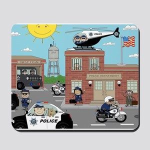 POLICE DEPARTMENT SCENE Mousepad