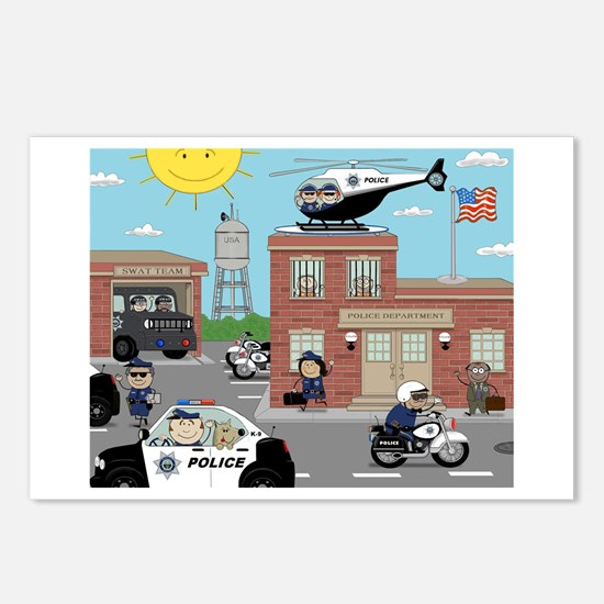POLICE DEPARTMENT SCENE Postcards (Package of 8)