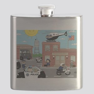 POLICE DEPARTMENT SCENE Flask