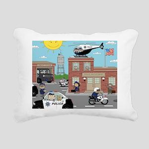 POLICE DEPARTMENT SCENE Rectangular Canvas Pillow