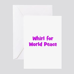Whirl for World Peace Greeting Cards (Pk of 10
