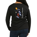 Solavengers Flying Flames Women's Long Sleeve Dark