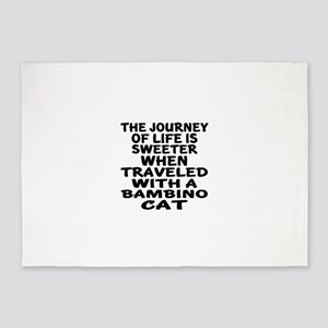 Traveled With Bambino Cat 5'x7'Area Rug