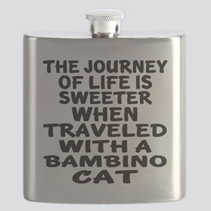 Traveled With Bambino Cat Flask