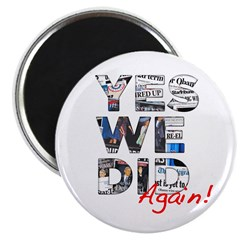 Yes We Did (Again): Obama 2012 Magnet