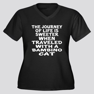 Traveled Wit Women's Plus Size V-Neck Dark T-Shirt