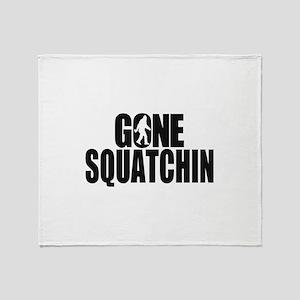 Gone Squatchin Sasquatch Throw Blanket