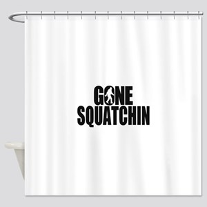 Gone Squatchin Sasquatch Shower Curtain