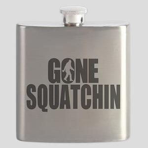 Gone Squatchin Sasquatch Flask
