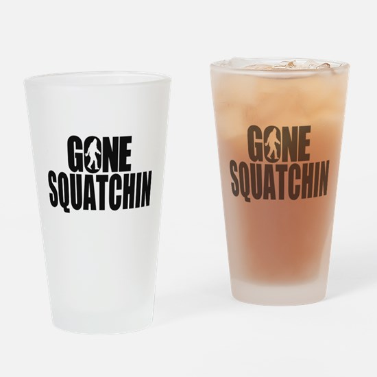Gone Squatchin Sasquatch Drinking Glass