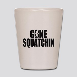 Gone Squatchin Sasquatch Shot Glass