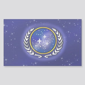 Federation Flag Sticker (Rectangle)