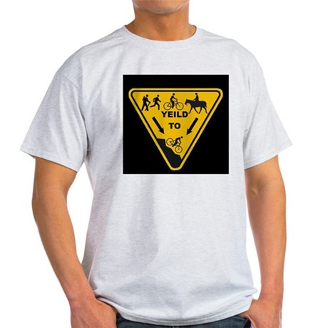 Yield to Shred - Mountain Bike Light T-Shirt