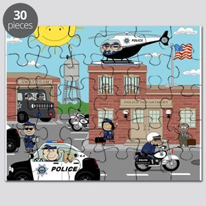 POLICE DEPARTMENT SCENE Puzzle