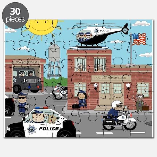 POLICE DEPARTMENT SCENE Puzzle
