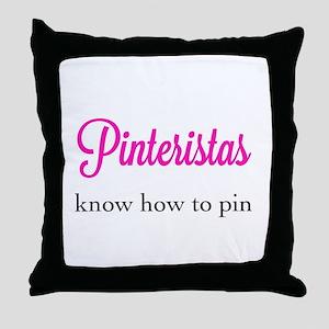 Pinteristas Know How to Pin T-shirt Throw Pillow