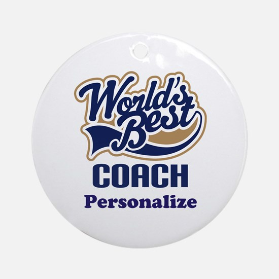 Personalized Coach Ornament (Round)