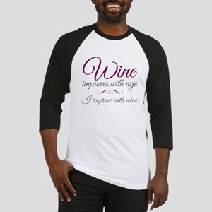 Wine improves Baseball Jersey