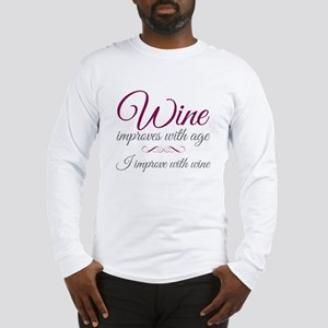Wine improves Long Sleeve T-Shirt