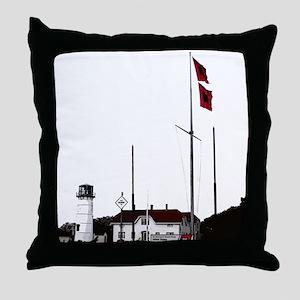 Hurricane Flags, Chatham Light Throw Pillow