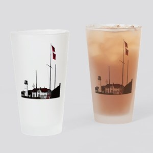 Hurricane Flags, Chatham Light Drinking Glass