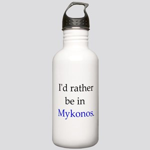 Rather be in Mykonos Stainless Water Bottle 1.0L
