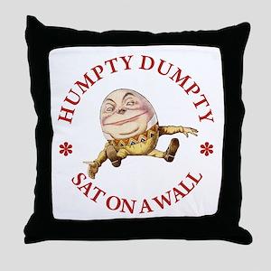 Humpty Dumpty Sat On A Wall Throw Pillow