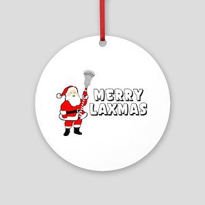 Lacrosse Merry Laxmas Ornament (Round)