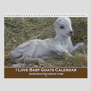 I Love Baby Goats Wall Calendar
