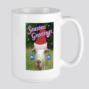 Ruby the Sassy Christmas Goat Large Mug