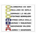 Acróstico Colombia Small Poster