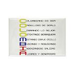 Acróstico Colombia Rectangle Magnet