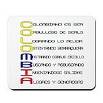 Acróstico Colombia Mousepad