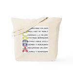 Acróstico Colombia Tote Bag