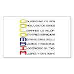 Acróstico Colombia Rectangle Sticker