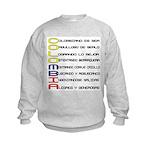 Acróstico Colombia Kids Sweatshirt