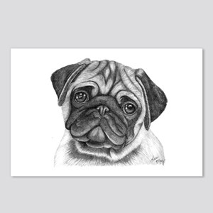 Pug Postcards (Package of 8)