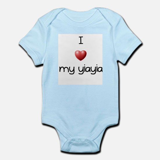I Love Yia Yia Infant Bodysuit