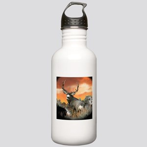 buck mule deer Stainless Water Bottle 1.0L