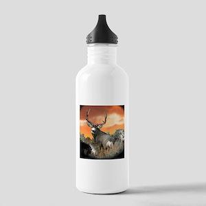 buck mule deer Stainless Water Bottle 1.0L