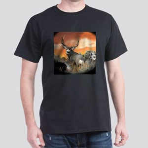 buck mule deer Dark T-Shirt