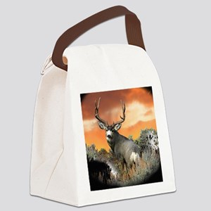 buck mule deer Canvas Lunch Bag