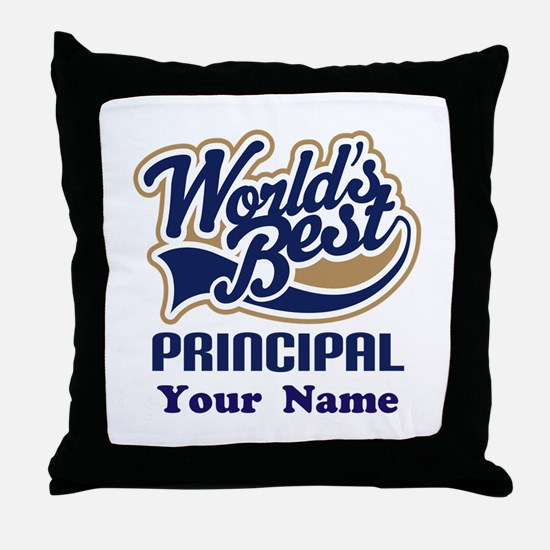 Personalized Principal Gift Throw Pillow