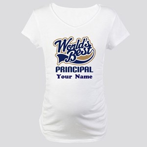 Personalized Principal Gift Maternity T-Shirt