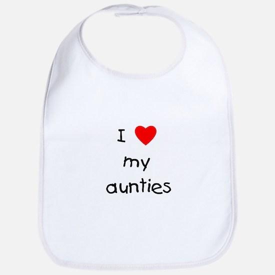 I love my aunties Bib