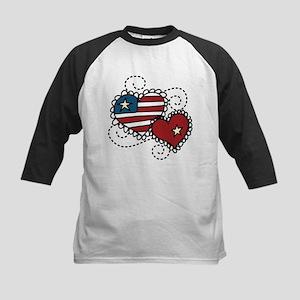 America Hearts Kids Baseball Jersey