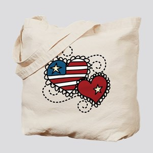 America Hearts Tote Bag