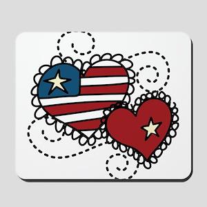 America Hearts Mousepad
