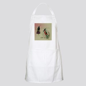 Vintage French Hummingbirds Apron