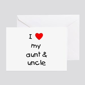 I love my aunt & uncle Greeting Cards (Package of